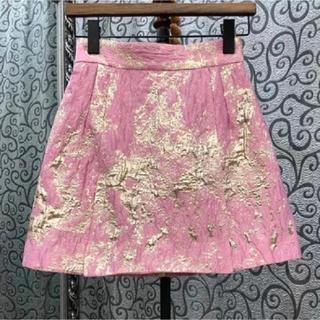 グレースコンチネンタル(GRACE CONTINENTAL)の金箔 スカート(ミニスカート)