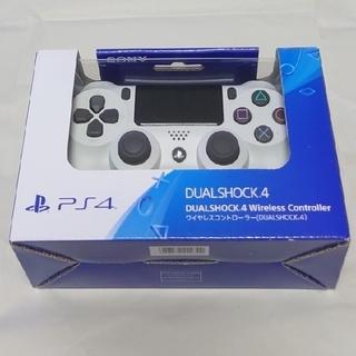 プレイステーション4(PlayStation4)の【未使品】ワイヤレスコントローラー(DUALSHOCK 4)グレイシャーホワイト(その他)