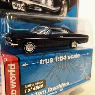 シボレー(Chevrolet)のAW/'66 Chevyシボレー Impalaインパラ SS 紫 1/64 限定(ミニカー)