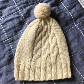 手編みニット帽子(帽子)