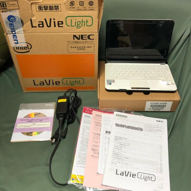 NEC(エヌイーシー)のモバイルノート LAVIE light HDD無し スマホ/家電/カメラのPC/タブレット(ノートPC)の商品写真