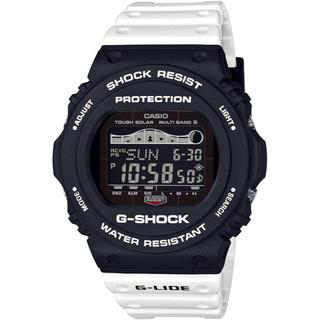 ジーショック(G-SHOCK)のカシオ G-SHOCK Gライド 電波ソーラー 腕時計 ホワイト×ブラック(腕時計(デジタル))