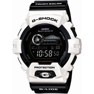 ジーショック(G-SHOCK)のカシオ G-SHOCK Gライド 電波ソーラー 腕時計 ブラック×ホワイト(腕時計(デジタル))