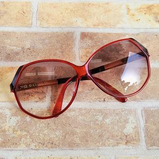 クリスチャンディオール(Christian Dior)のディオール ☆ ヴィンテージ セルフレーム サングラス レッド ドイツ製(サングラス/メガネ)