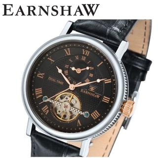 アーンショウ(EARNSHAW)の【数量限定】アーンショウ 腕時計ES-8047-01 ブラック×ピンクゴールド(腕時計(アナログ))