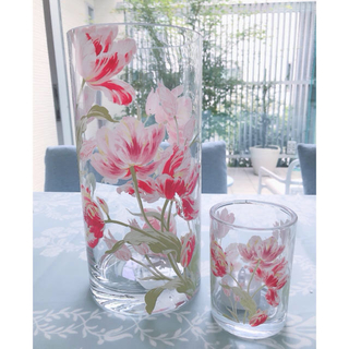 ローラアシュレイ(LAURA ASHLEY)のローラアシュレイ★ゴスフォードシクラメン花瓶♪1個限り(花瓶)