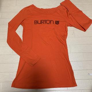 バートン(BURTON)の【古着】 USA製 BURTON ロンT 長袖 カットソー XS オレンジ系(Tシャツ/カットソー(七分/長袖))