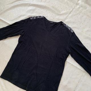 バーバリーブラックレーベル(BURBERRY BLACK LABEL)のバーバリー ブラックレーベル ロンT シャツ Vネック L(Tシャツ/カットソー(七分/長袖))