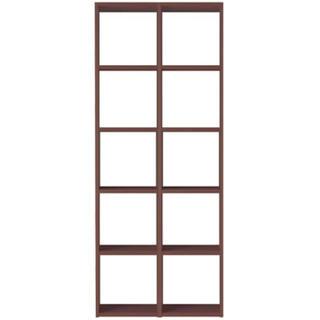 MUJI (無印良品) - 【美品】無印 MUJI スタッキングシェルフ 5段×2列 ウォールナット材
