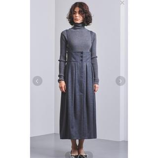 ドゥロワー(Drawer)のエリン サロペット スカート ELIN ジャンバースカート(ひざ丈スカート)