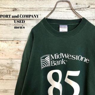 アメリヴィンテージ(Ameri VINTAGE)のUS輸入 PORT and COMPANY メンズ 長袖Tシャツ XL(Tシャツ/カットソー(半袖/袖なし))