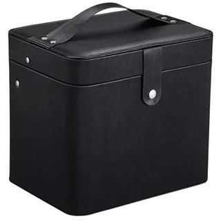 メイクボックス 大容量収納ケース メイクブラシ化粧道具 小物入れ 鏡付き(メイクボックス)