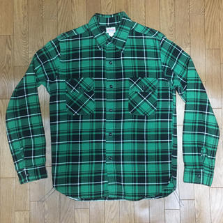 ザリアルマッコイズ(THE REAL McCOY'S)の美品 リアルマッコイ 厚手ネルチェックシャツ 16(シャツ)