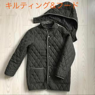 GU - 美品★  キルティング 中綿 コート 150