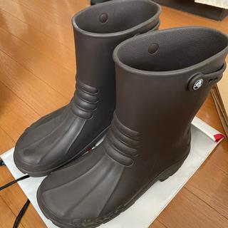 クロックス(crocs)のcrocs レインブーツ 26.0cm 茶色(長靴/レインシューズ)