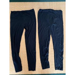 UNIQLO - ユニクロのヒートテックレギンス2枚と長袖1枚セット  140センチ