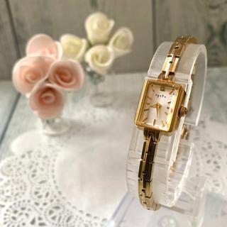 アガット(agete)の【電池交換済】agete アガット 腕時計 0.02ct イエローゴールド(腕時計)