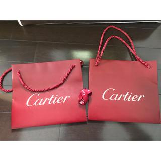 カルティエ(Cartier)のカルティエ ショップ袋 二枚セット リボン付(ショップ袋)