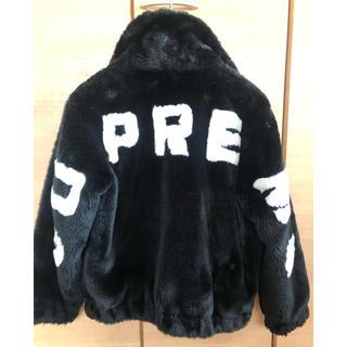 シュプリーム(Supreme)の【訳あり】supreme faux fur bomber jacket(毛皮/ファーコート)