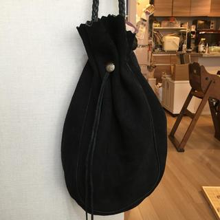 ゴローズ(goro's)の最終値下げ! goro's 巾着バッグS 黒 肩掛け 美品 ゴローズ (ショルダーバッグ)