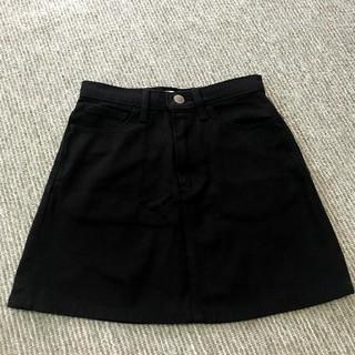 スライ(SLY)のSLY デニムスカート(black)(ミニスカート)