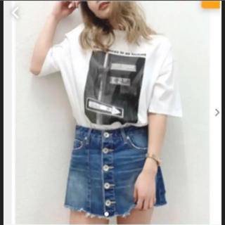 ジェイダ(GYDA)のジェイダ フロントボタンスカートデニム ショートパンツ (ミニスカート)