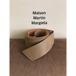 マルタンマルジェラ(Maison Martin Margiela)のマルタン マルジェラ レザーリボンベルト グレージュ(ベルト)