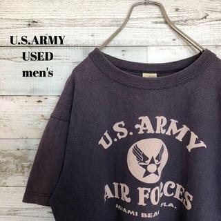 アメリヴィンテージ(Ameri VINTAGE)のU.S.ARMY AIR FORCE メンズ 半袖Tシャツ ミリタリー L(Tシャツ/カットソー(半袖/袖なし))