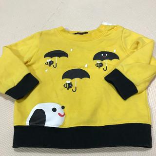 アカチャンホンポ(アカチャンホンポ)のトレーナー 赤ちゃん本舗 80 しましまぐるぐる  ぶんぶんきいろ 絵本(Tシャツ)