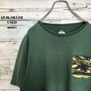クイックシルバー(QUIKSILVER)のUS輸入 QUIK SILVER メンズ 半袖Tシャツ 胸ポケット 迷彩(Tシャツ/カットソー(半袖/袖なし))