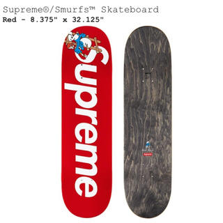 シュプリーム(Supreme)のSupreme smurfs skateboard deck スマーフ 赤(スケートボード)