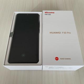 NTTdocomo - 新品 SIMフリー HUAWEI P30Pro HW-02L ブラック