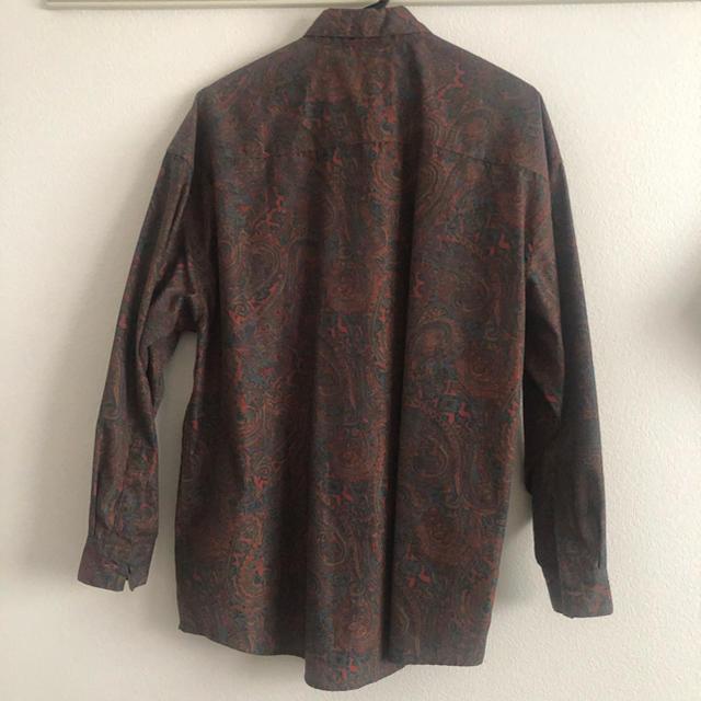 Ungrid(アングリッド)のUngrid ペイズリープリントビッグシャツ 美品 レディースのトップス(シャツ/ブラウス(長袖/七分))の商品写真