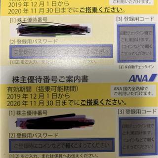 エーエヌエー(ゼンニッポンクウユ)(ANA(全日本空輸))のANA 株主優待 搭乗券 2枚(航空券)