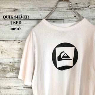 クイックシルバー(QUIKSILVER)のQUIK SILVER メンズ 半袖Tシャツ 胸ロゴ サーフィン M(Tシャツ/カットソー(半袖/袖なし))