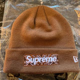 シュプリーム(Supreme)のSupreme New Era Box Logo Beanie Brown(ニット帽/ビーニー)