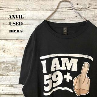 アメリヴィンテージ(Ameri VINTAGE)のUS輸入 ANVIL メンズ 半袖Tシャツ I am 59+1 XL(Tシャツ/カットソー(半袖/袖なし))