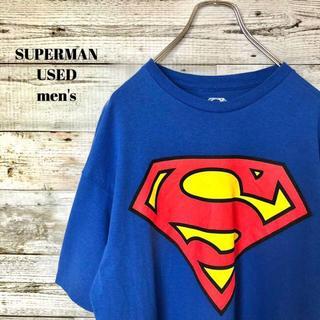 アメリヴィンテージ(Ameri VINTAGE)のUS輸入 SUPERMAN メンズ 半袖Tシャツ ビッグロゴ アメコミ L(Tシャツ/カットソー(半袖/袖なし))