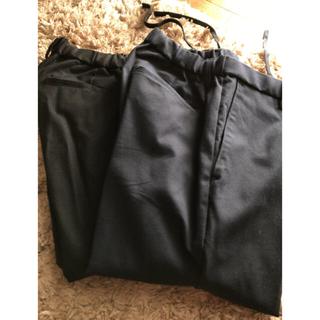 ユニクロ(UNIQLO)のUNIQLO テーパード スラックス パンツ 2本まとめ売り(スラックス)