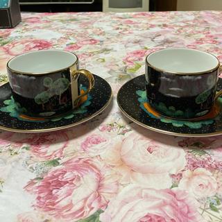 フランシュリッペ(franche lippee)のフランシュリッペ カップ&ソーサー 2客セット 3匹のこぶた(グラス/カップ)