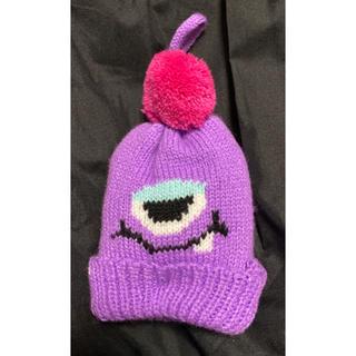 カルディ(KALDI)のKALDIモンスターオーナメント ニット帽(紫)(キャラクターグッズ)