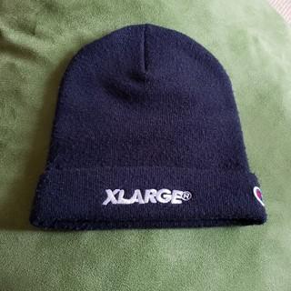 エクストララージ(XLARGE)のXLARGE × championのビーニー ニット帽(ニット帽/ビーニー)