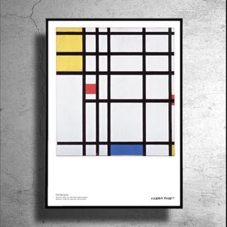 スウェーデン限定!現代美術家ピート・モンドリアン希少ポスターポップアートkaws(印刷物)