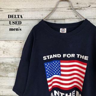 アメリヴィンテージ(Ameri VINTAGE)のUS輸入 DELTA メンズ 半袖Tシャツ 星条旗 ビッグサイズ 2XL(Tシャツ/カットソー(半袖/袖なし))