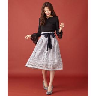 ミーア(MIIA)のMIIA レースフレアスカート(ひざ丈スカート)