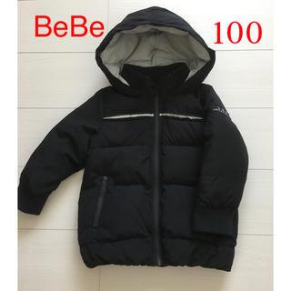 ベベ(BeBe)のBEBE べべキッズ ダウンコート 黒 100センチ(コート)