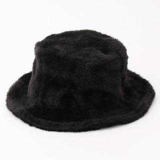 フリークスストア(FREAK'S STORE)のFreak's store ファーチューリップハット ブラック 帽子(ハット)