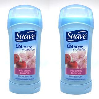 Suave - Suave スアーブ ワイルド チェリー ブロッサム デオドラント 2本セット