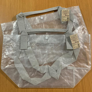 ムジルシリョウヒン(MUJI (無印良品))のポリエチレンシート・ミニトートバッグ   半透明② 2個セット(トートバッグ)
