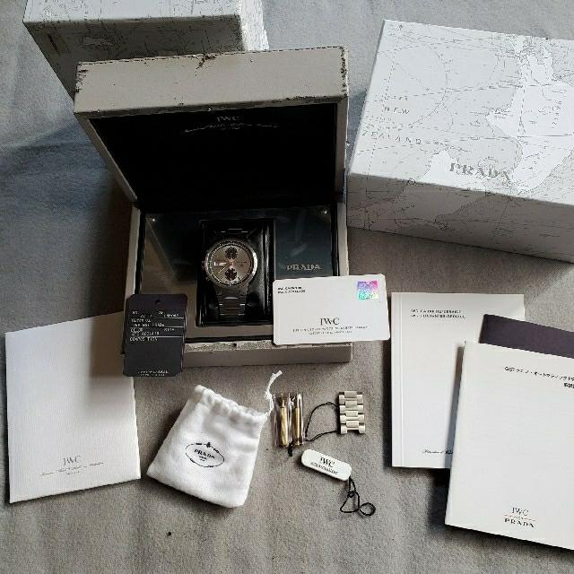 IWC(インターナショナルウォッチカンパニー)の【希少モデル】IWC×PRADA 世界限定2000本 メンズ クロノグラフ腕時計 メンズの時計(腕時計(アナログ))の商品写真